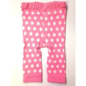 Ganz Pink Leggings w/ White Polka Dots