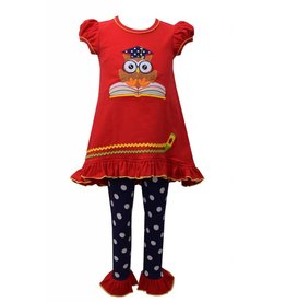 Bonnie Jean Owl Back To School Tunic And Legging Set