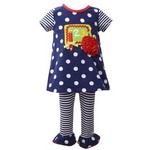 Bonnie Baby 123 Polka Dot Tunic And Legging Set