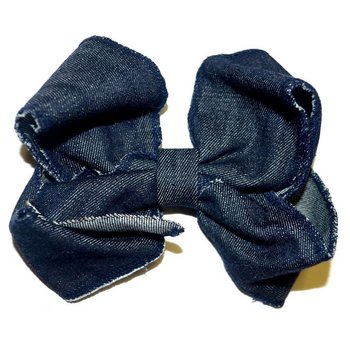 My Little Lady Bug Denim Hairbow