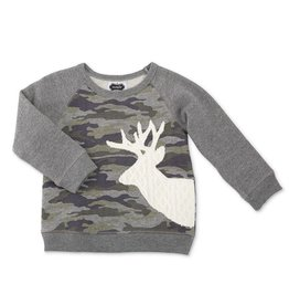 Mud Pie Camo Stag Sweatshirt