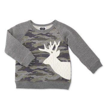 Mud Pie Camo Stag Sweatshirt