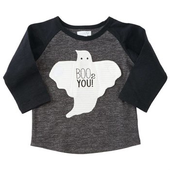 Mud Pie Boo 2 You! Velcro Ghost Shirt