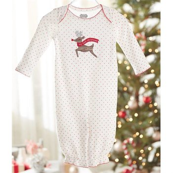 Mud Pie My First Christmas Reindeer Convertible Gown
