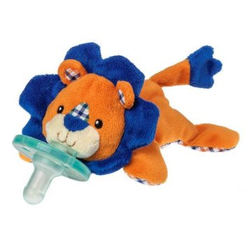 Mary Meyer Orange and Blue Plaid Lion Wubbanub