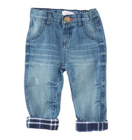 Mud Pie Blue Jean Plaid Ankle Cuff