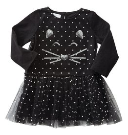 Mud Pie Mesh Overlay Cat Dress