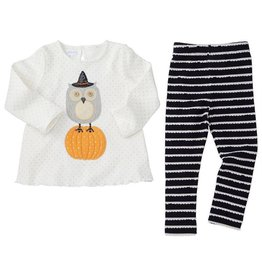 Mud Pie HALLOWEEN OWL WITCH TUNIC & LEGGING SET