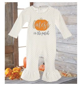 Mud Pie Cutest Pumpkin In The Patch One-Piece