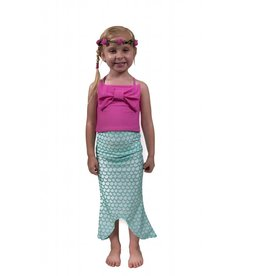 Flap Happy Mermaid High Waisted Swim Set With Skirt