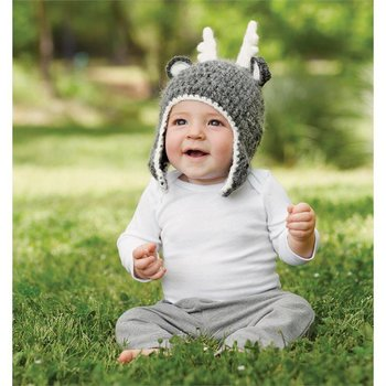 Mud Pie Deer Grey Knit Hat