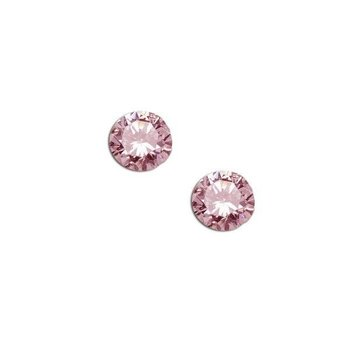 Cherished Moments Sterling Silver Crystal Pink Earring