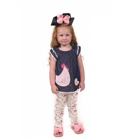 Mud Pie Hen and Chick Tunic & Legging Set