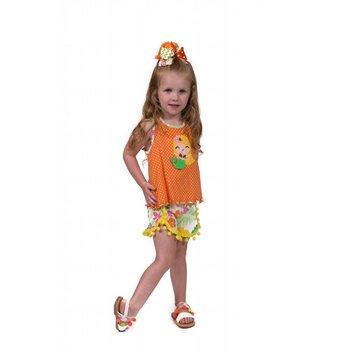 Molly & Millie Orange Polk-a-dot Mermaid