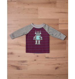 Wally & Willie Striped Robot Shirt