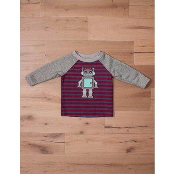 Wally & Willie Striped Robot Shirt