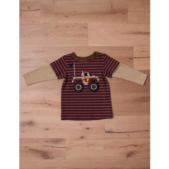 Wally & Willie Striped Monster Truck Shirt