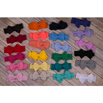 Solid Cotton Bow Headband