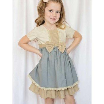 Evie's Closet Wheat & Slate Dress
