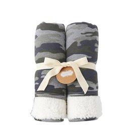 Mud Pie Camo Sweatshirt Blanket
