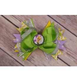Bottle Cap Tinkerbell 5in. Boutique Bow