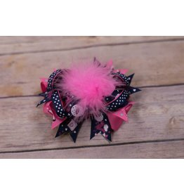 Pink/Blue/Purple Feather LOVE 4 in Boutique Bow