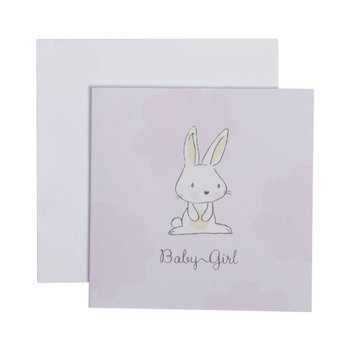 C.R. Gibson Baby Girl Bunny Card & Envelope