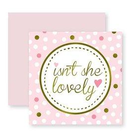 C.R. Gibson Isn't She Lovely Card & Envelope
