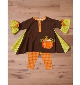 Molly & Millie Pumpkin Tunic with Leggings
