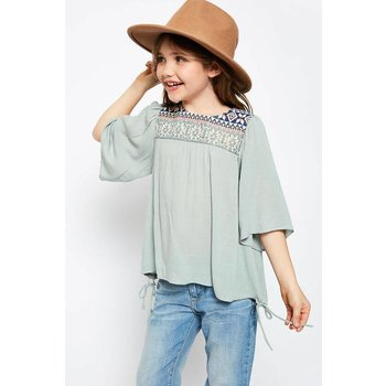 Hayden Embroidered Flowy Top