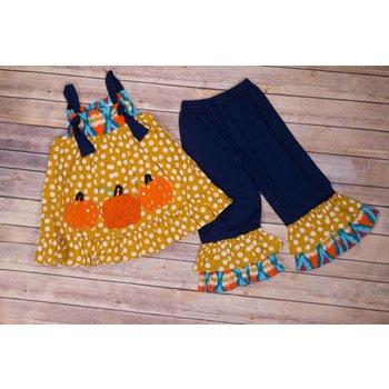 Millie Jay Pumpkin  Ruffle Pant Set