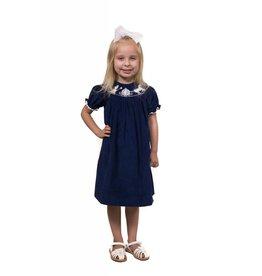 9c504e231 Banana Split Cinderella Blue Corduroy Smocked Dress