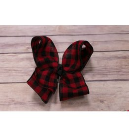 My Little Lady Bug XXL Hunters Plaid Bow