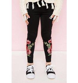 Hayden Floral Embroidered Leggings