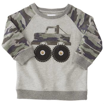 Mud Pie Camo Truck Sweatshirt