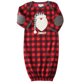 Mud Pie Buffalo Plaid Santa Sleep Gown