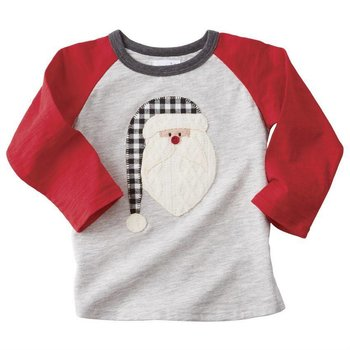 Mud Pie Alpine Santa Raglan