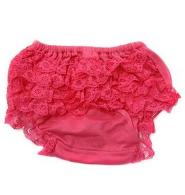 Hot Pink Cotton Lace Bloomers