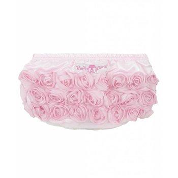 Ruffle Butts Light Pink Satin Rosette Bloomers