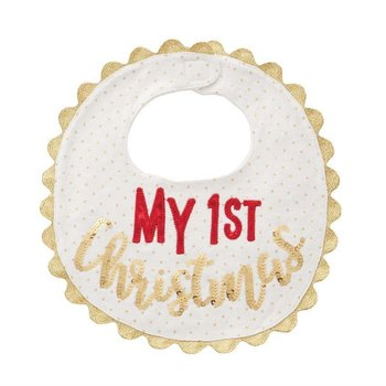 Mud Pie My First Christmas Bib