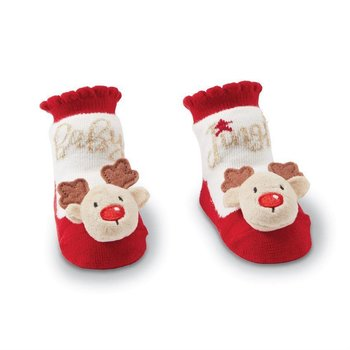 Mud Pie Mud Pie Jingle Baby Reindeer Socks