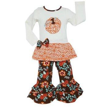 Ann Loren Pumpkin Patch Floral Outfit