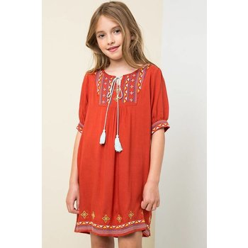 Hayden Tribal Embroidered Tunic Dress
