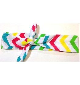 Rainbow Chevron Turban Headband