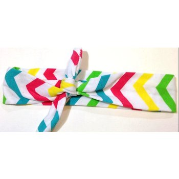 Rainbow Chevron Turban Headband