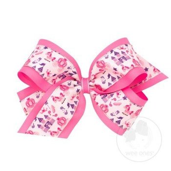 Wee Ones King Princess Print Bow
