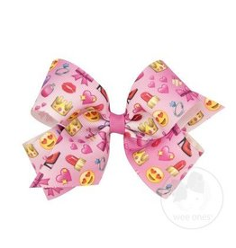 Wee Ones Girly Girl Emoji Bow