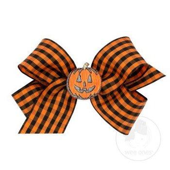 Wee Ones Halloween Gingham Bow