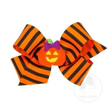 Wee Ones Halloween Stripe Bow