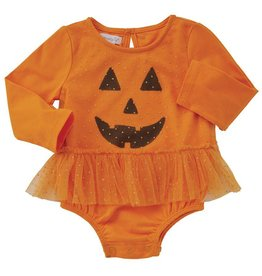 Mud Pie Orange Mesh Overlay Halloween Crawler
